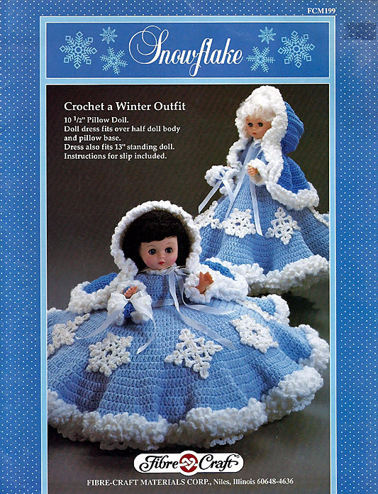 Snowflake Fibre Craft 13 Inch Doll Clothes Crochet Pattern Leaflet
