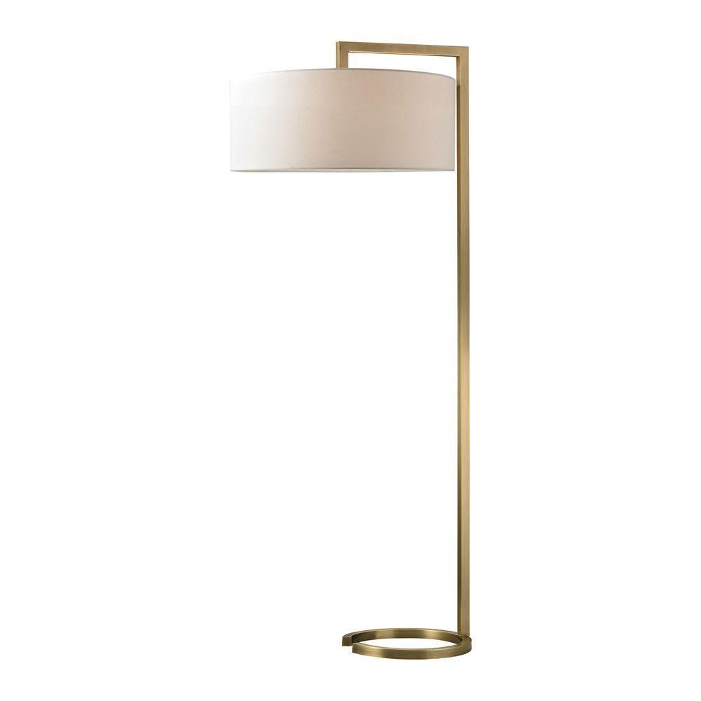 Titan Lighting Ring Base 60 In Antique Brass Floor Lamp Antique Brass Floor Lamp Brass Floor Lamp Led Floor Lamp