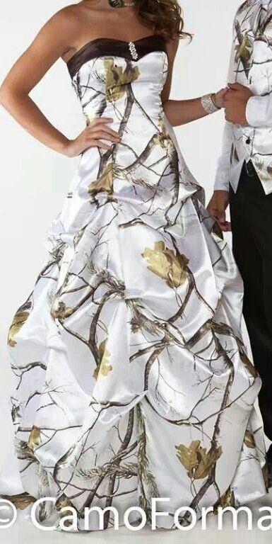 this is the prettiest camo wedding dress I have ever seen ...