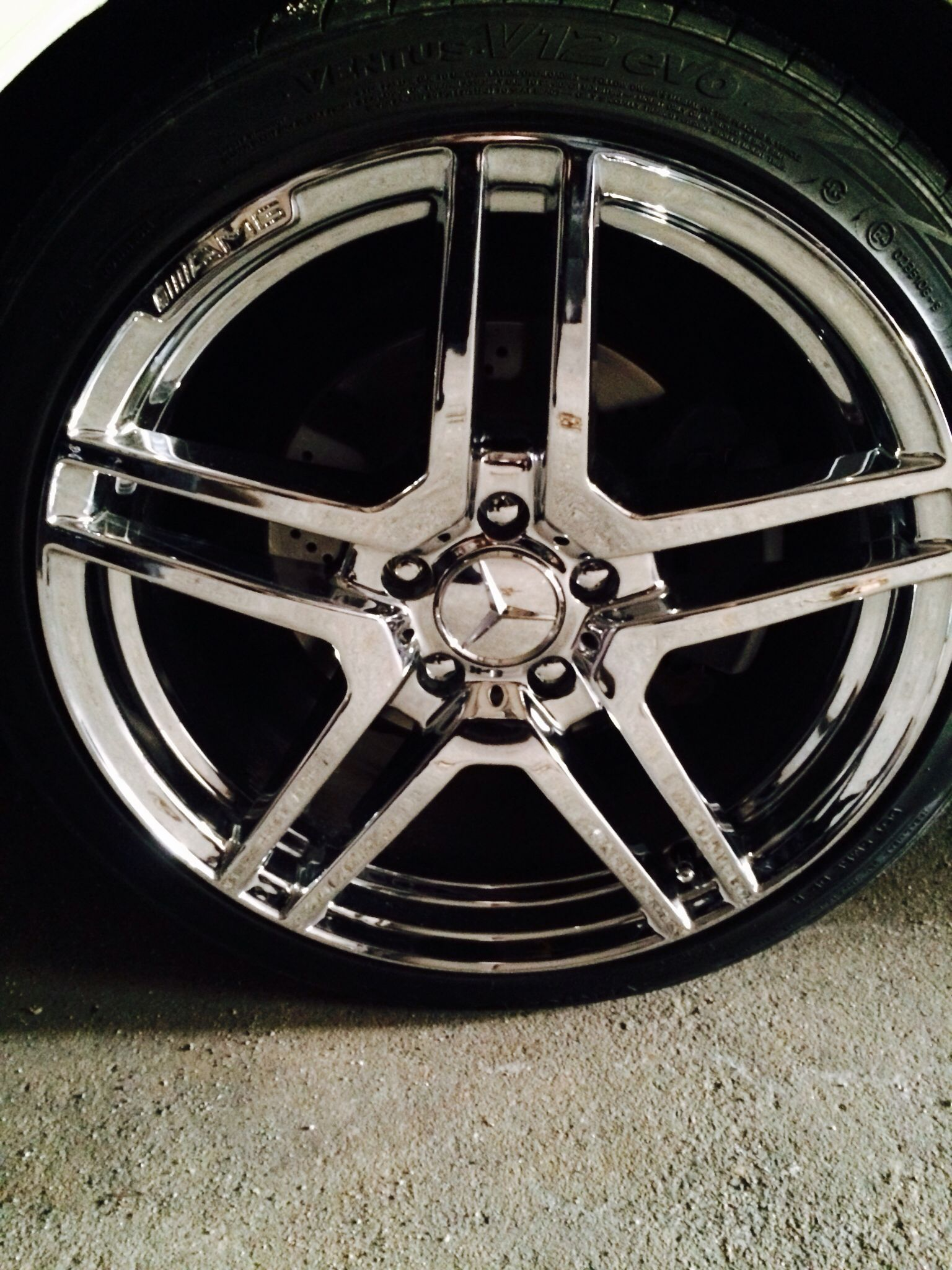 Mercedes c300 c350 18 chrome amg wheels lil mercedes for Mercedes benz c300 rims