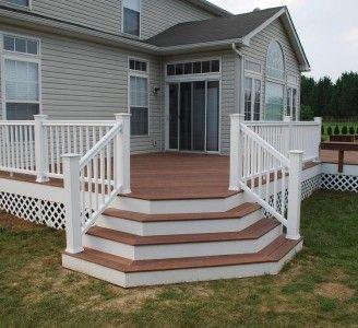 Deck Porch Stairs Designs Back Decks Deck Stairs