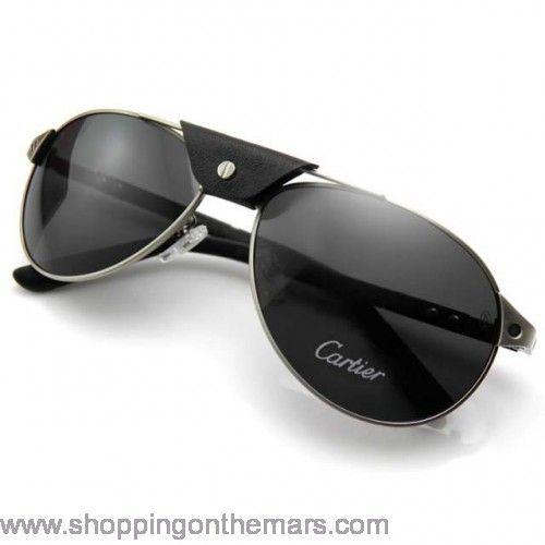 5860dd5bf264c7 Cartier aviator santos sunglasses black, cool right? | Stuff i like ...