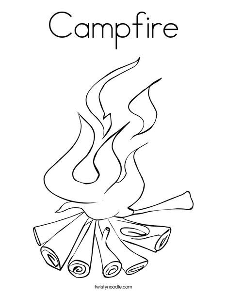 Campfire Coloring Page Twisty Noodle Coloring Pages Vacation