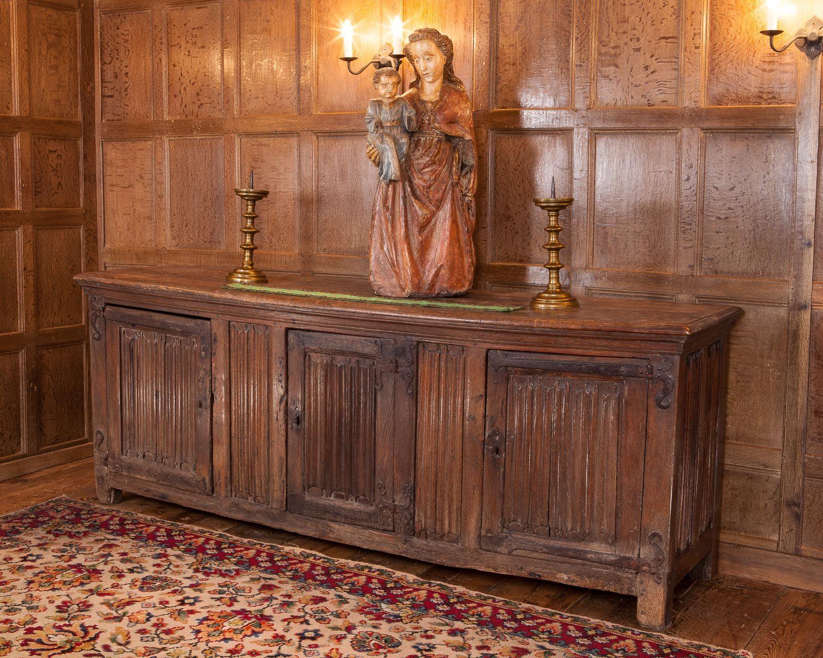 Haute époque, d\'époque bahut, gothique armoire 15 eme plis de ...