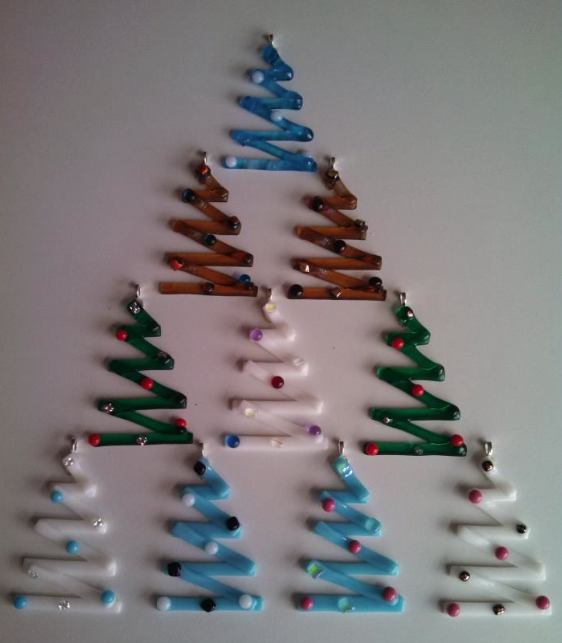 see the source image - Fused Glass Christmas Ornaments