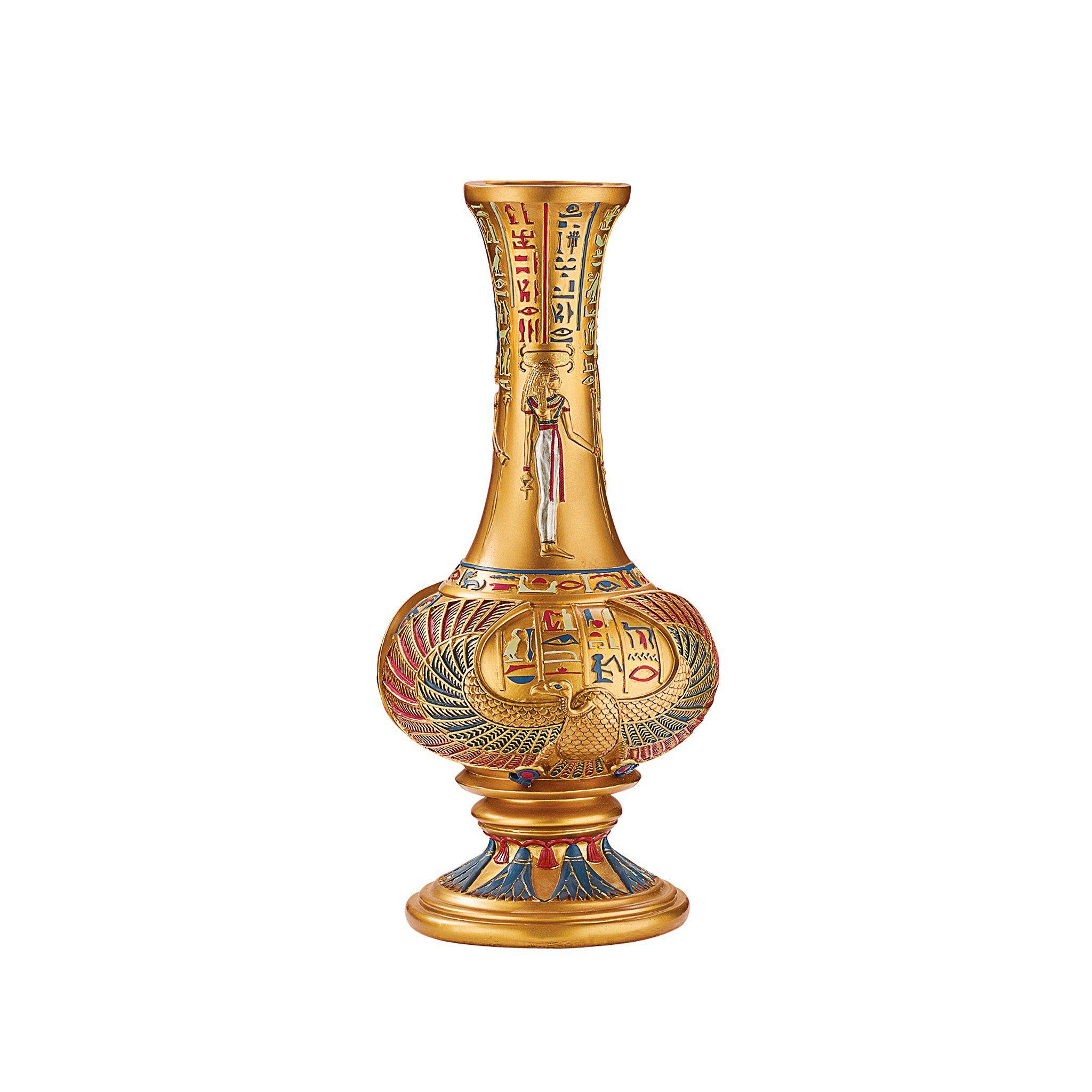 Design Toscano Vulture God Nekhebet Egyptian Sculptural Vase. Dimensions:  6