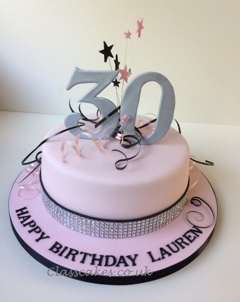 Wondrous 30Th Birthday Cake With Explosion And Bling Ribbon 30Th Birthday Funny Birthday Cards Online Alyptdamsfinfo
