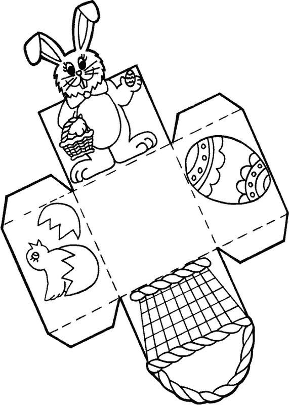 Easter Basket Template Templates Printables Free Colouring