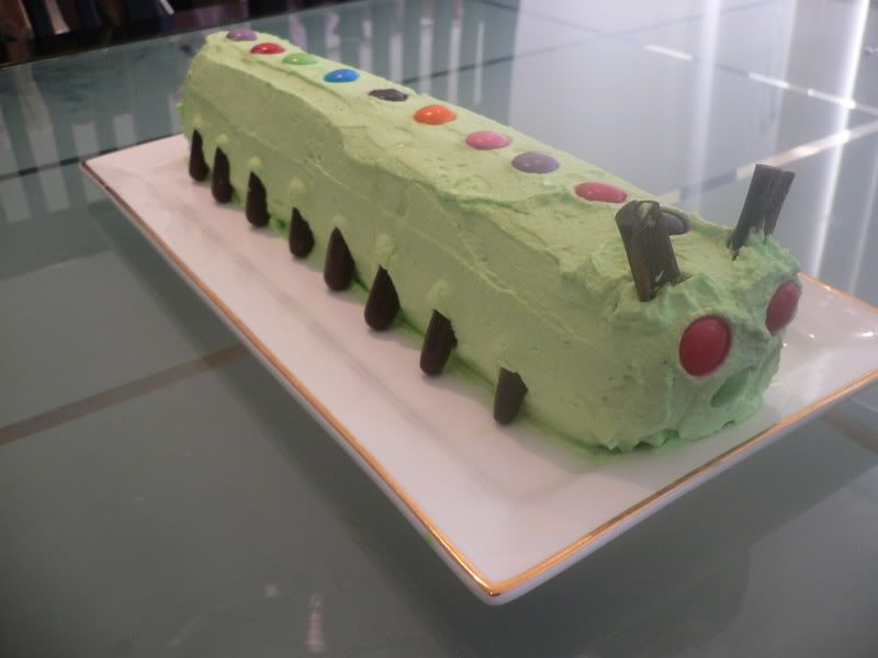 Chocolate Ripple Caterpillar Cake