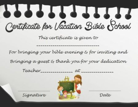 free vbs certificate template - Vbs Certificate Template