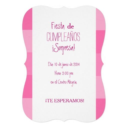 Invitaci n fiesta sorpresa de cumplea os rosa - Fiestas sorpresa de cumpleanos para adultos ...