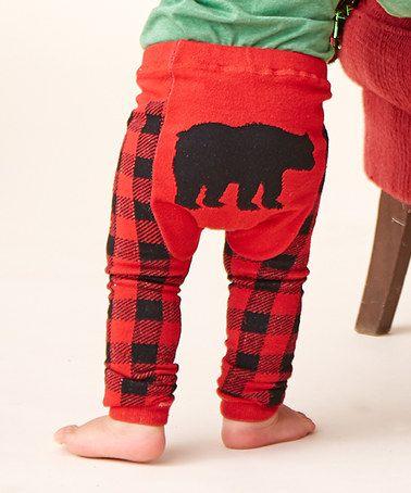 RuggedButts Baby//Toddler Boys Buffalo Plaid Bloomer w//Pockets
