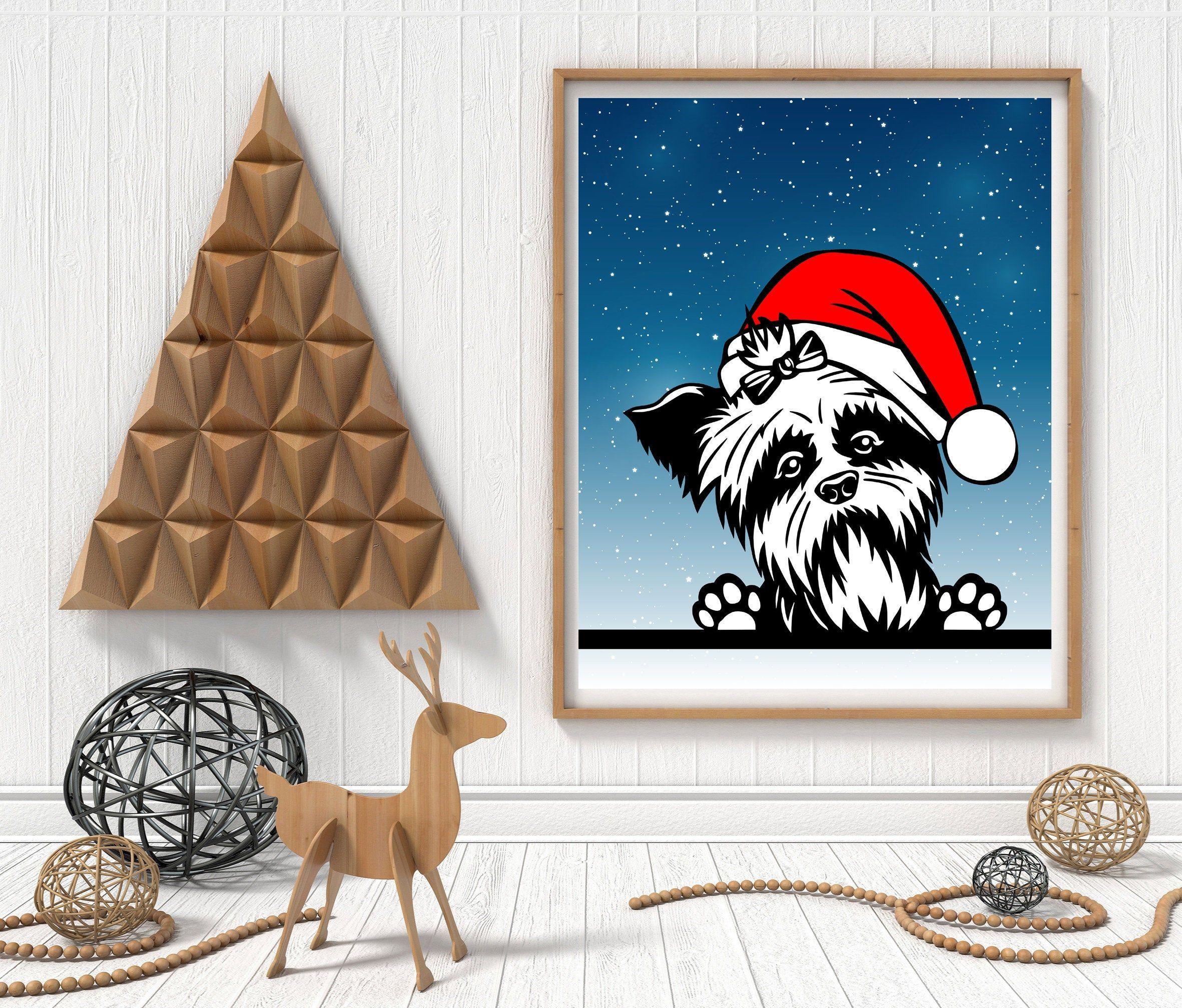 Yorkshire Art Print Christmas Wall Art Christmas Party Etsy In 2020 Christmas Wall Art Etsy Christmas Party Decorations