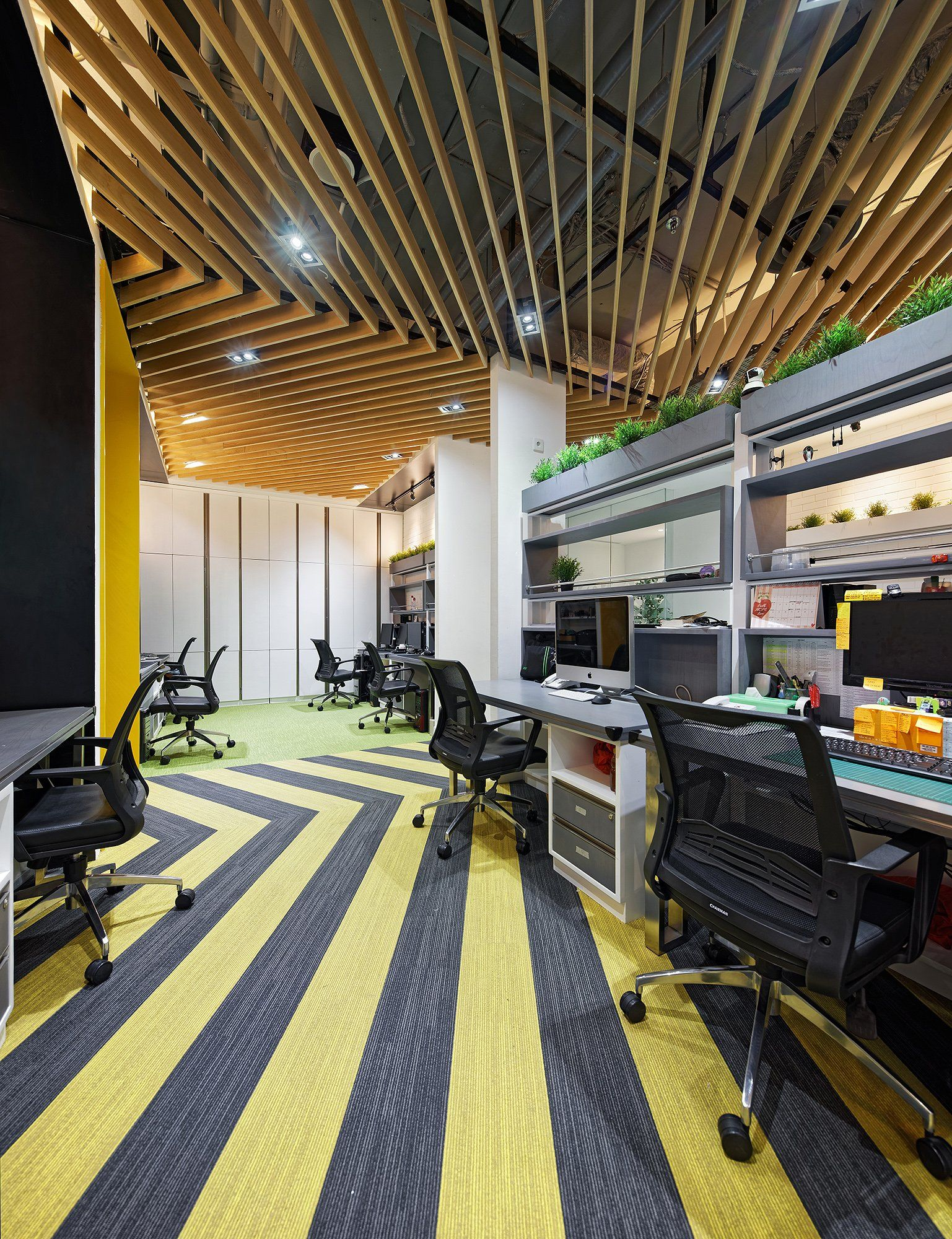 Office Tour NDC Offices Jakarta Patterned carpet