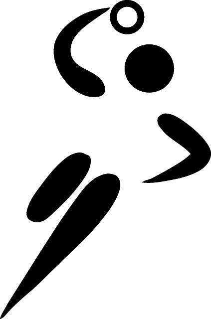 symbol hand silhouette sport team
