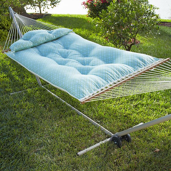 tufted hammock with stand kit at brookstone u2014buy now  tufted hammock with stand kit at brookstone u2014buy now    home      rh   pinterest