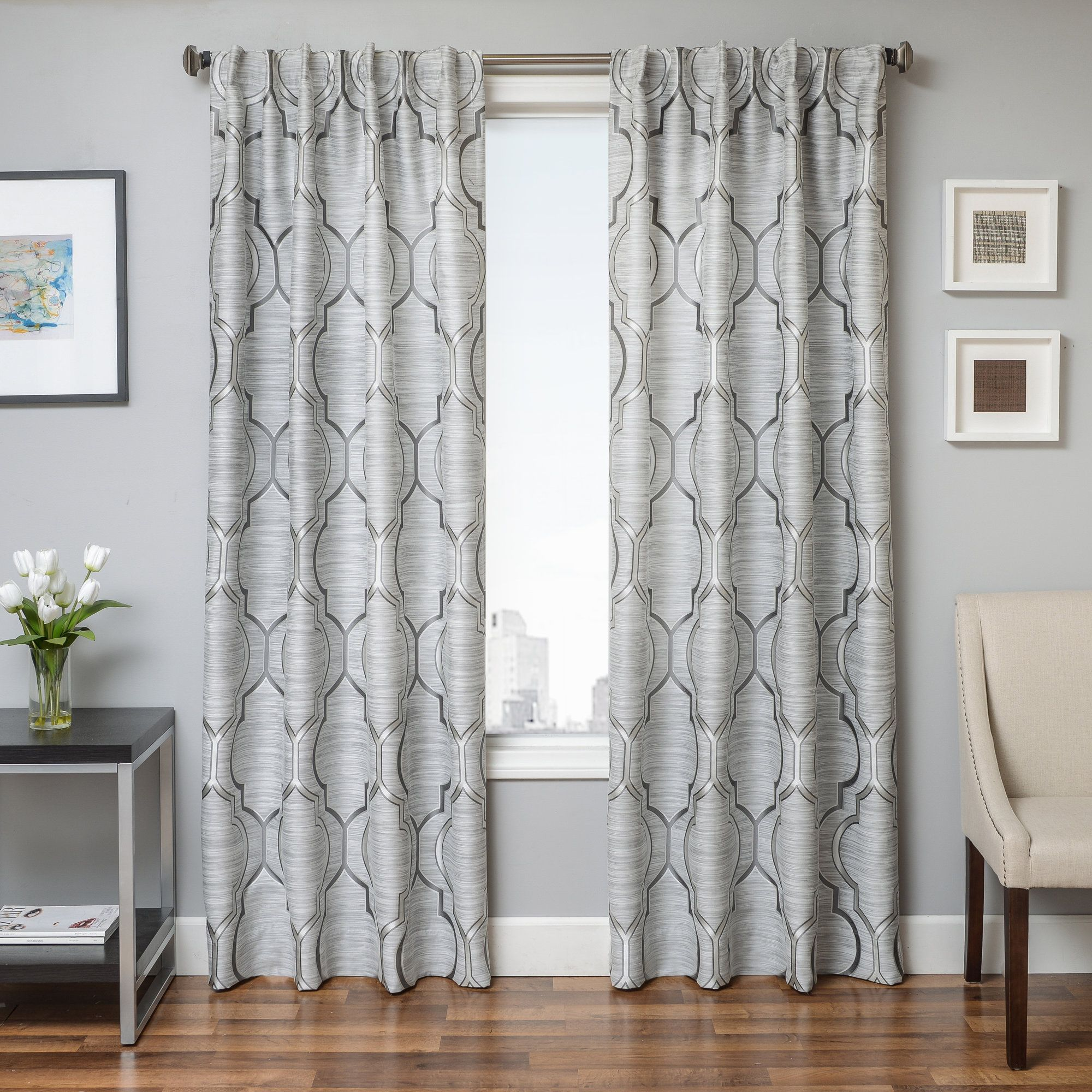 Palmerton Geometric Single Curtain Panel