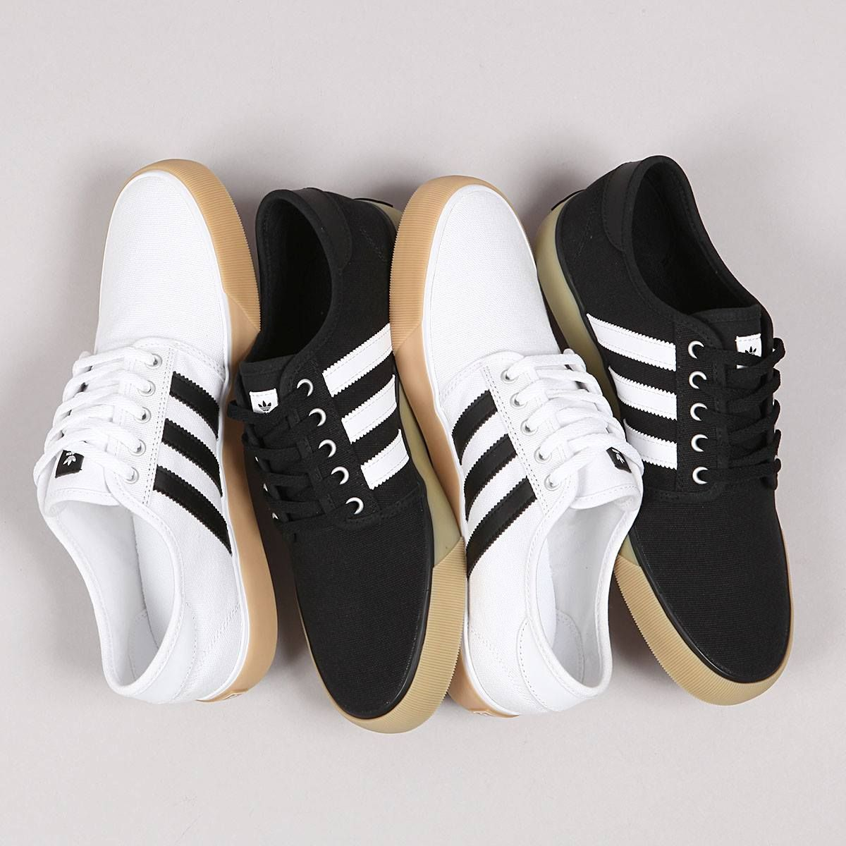 Adidas Seeley Decon White & Core Black Gum https://www.popname.