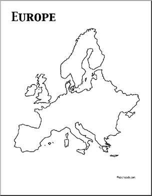Epic image regarding maps of europe printable