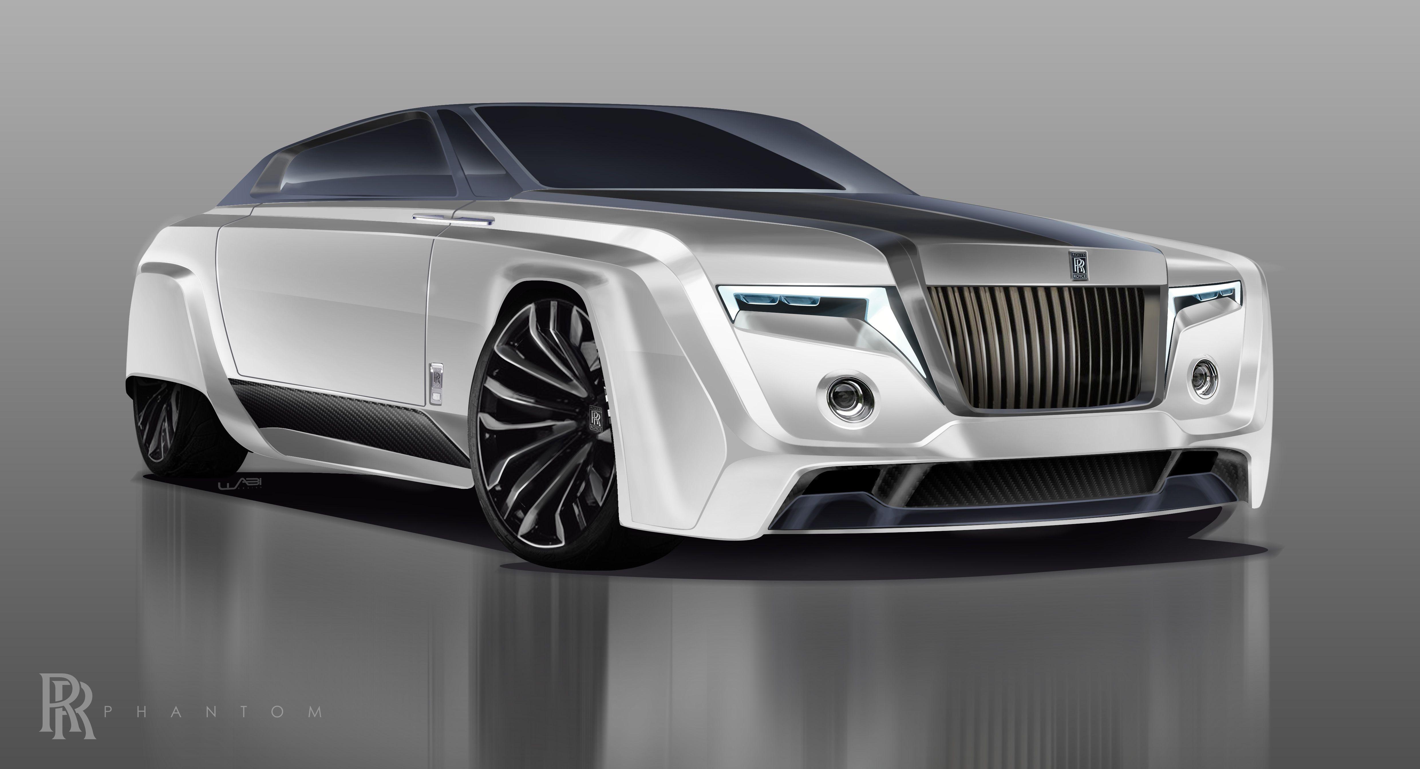 2050 Rolls Royce Phantom Final Render Adobe Photoshop Cc