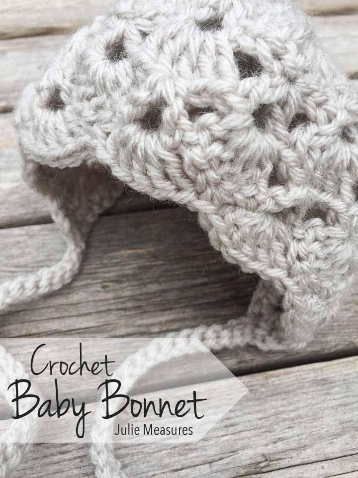 Crochet Baby Bonnet Julie Measures Blog Pinterest Baby Bonnets