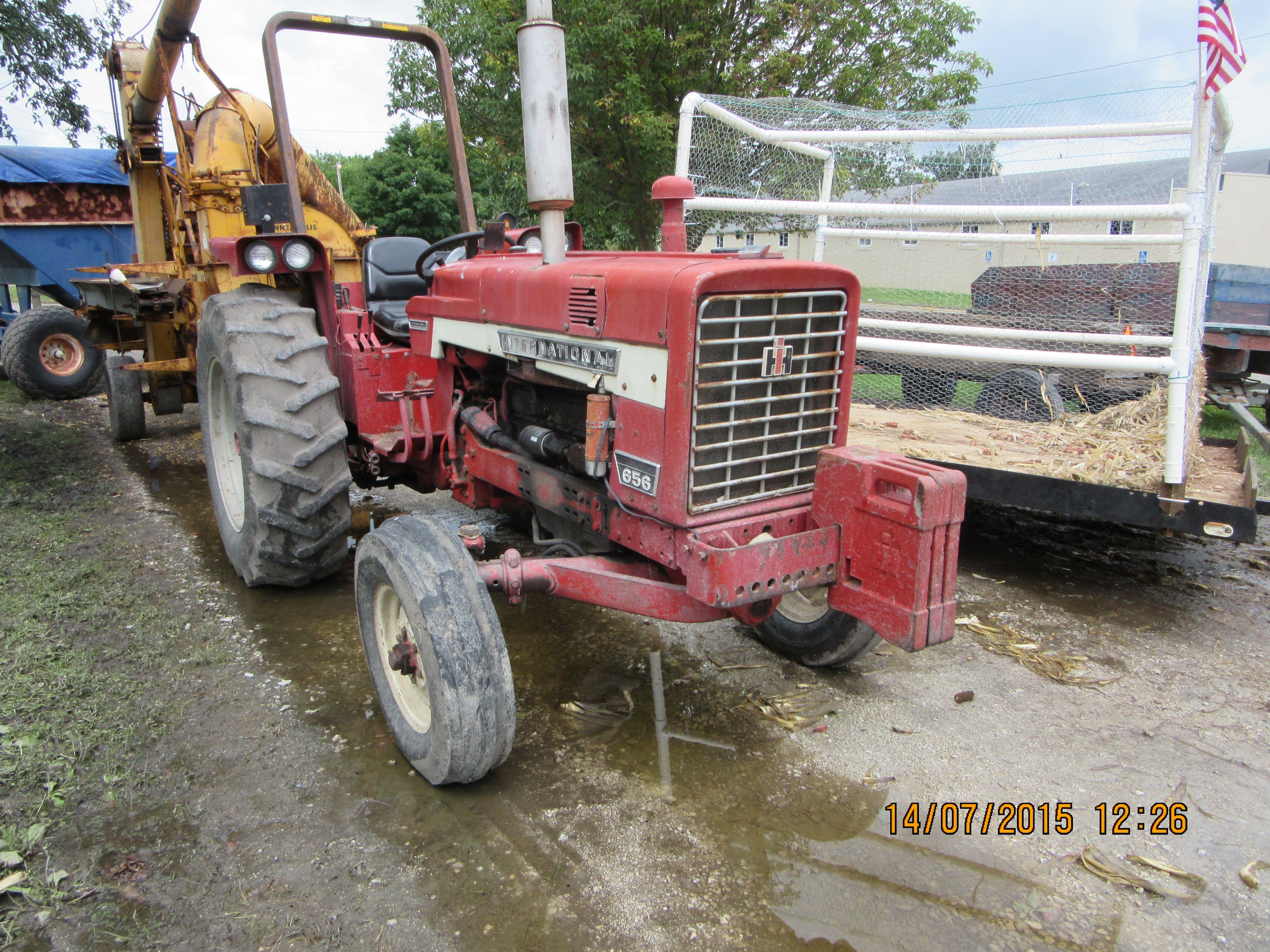 Front of International Harvester 656 Hydrostatic