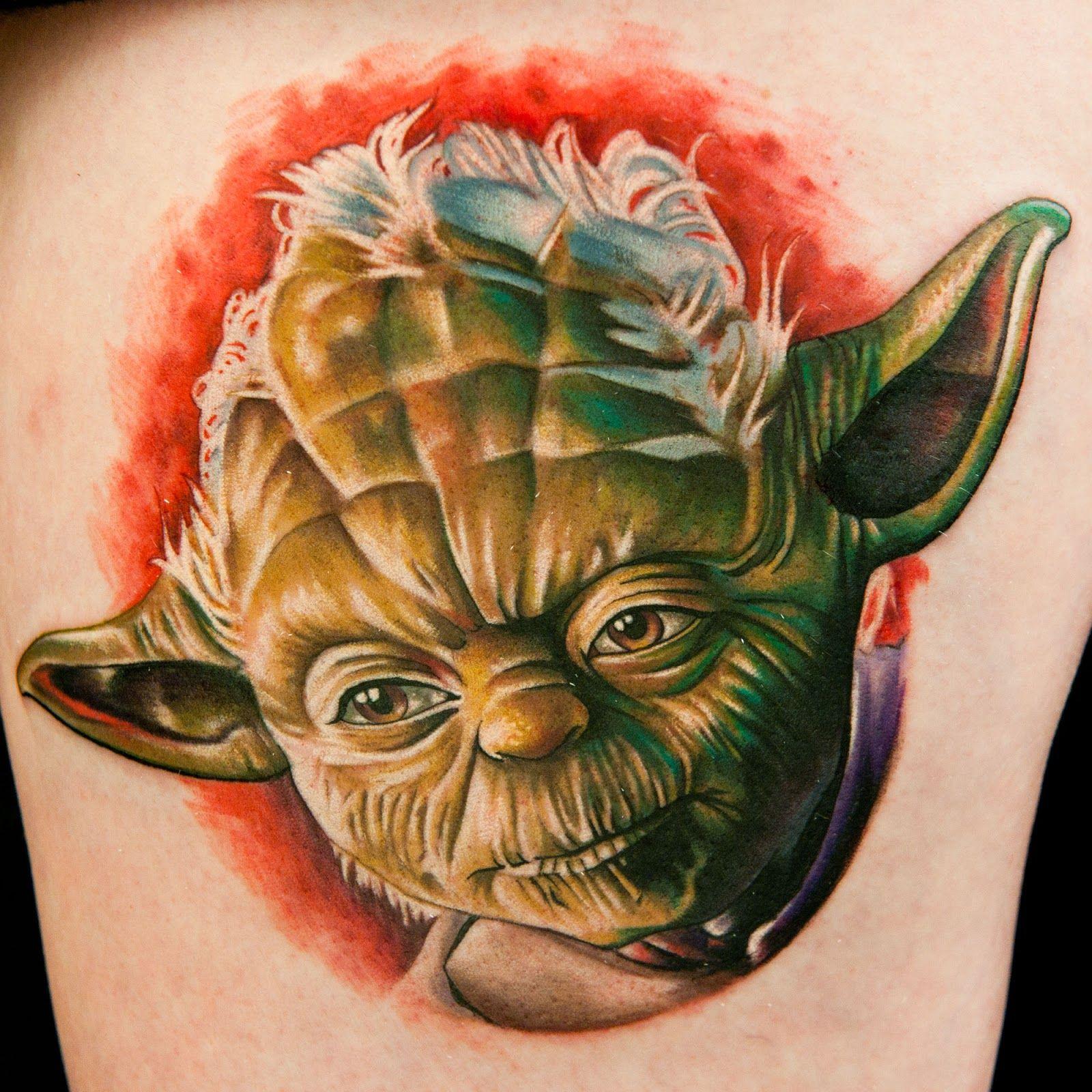 Tatu Baby Yoda Ink Master Tattoos Star Wars Tattoo Star Wars