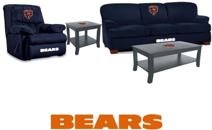 Chicago Bears Microfiber Furniture Set, Chicago Bears Furniture