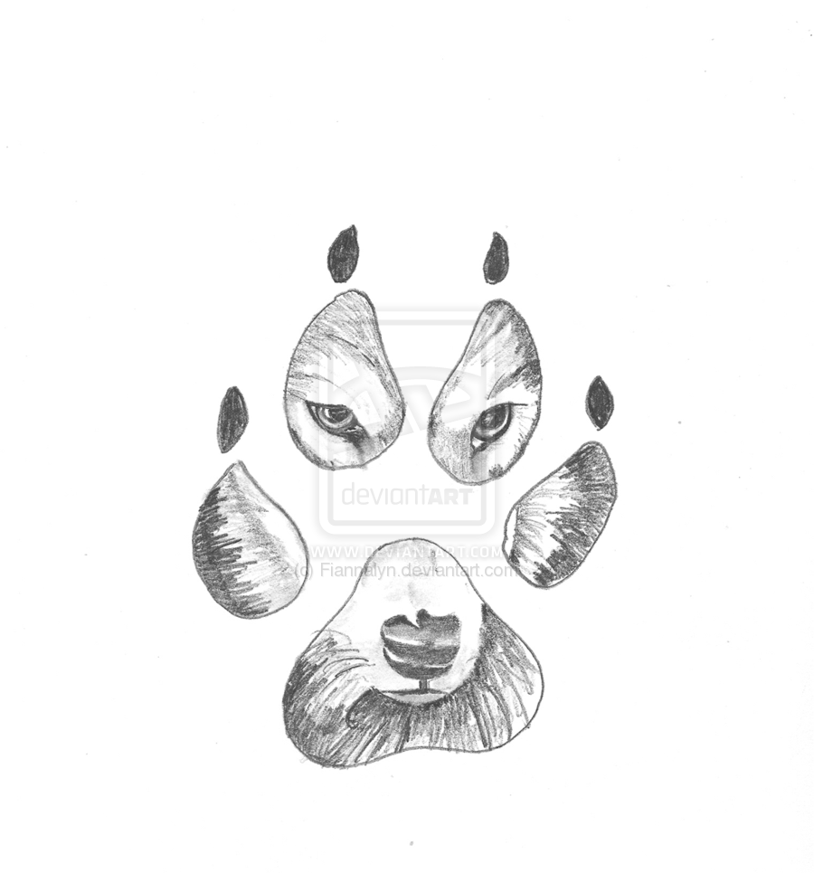 Wolves paw print drawing drawings pinterest wolf for How to draw good sketches