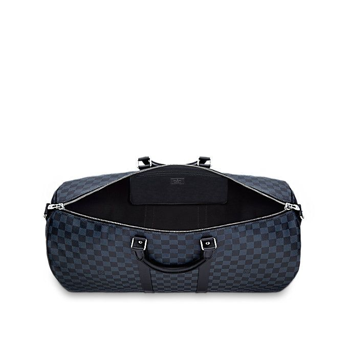 Keepall Bandouliere 55 Toile Damier Cobalt Homme Voyage Louis Vuitton Louis Vuitton Louis Vuitton Keepall 55 Keepall