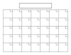 Best Images Of Blank Printable Calendar   X   Blank