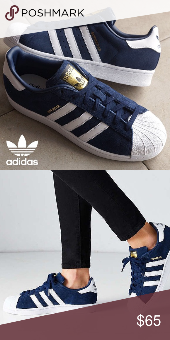 Rare Ante Adidas Superstar Oro navy sneakers Used see pictures pictures see cdc5bb
