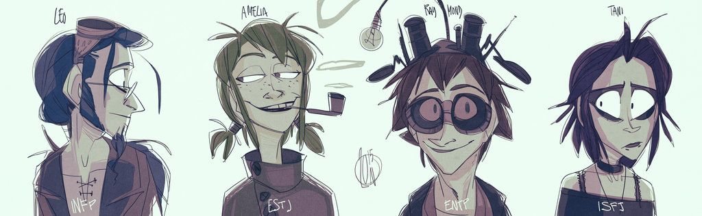 Suddenly, MELANCHOLIES. OLD 2012 OCs from my graduation thesis about Steampunk :') they come from my graphic project, a parodistic comic about four dorks traveling around da world MAYHAPS SOMEDAY- ...