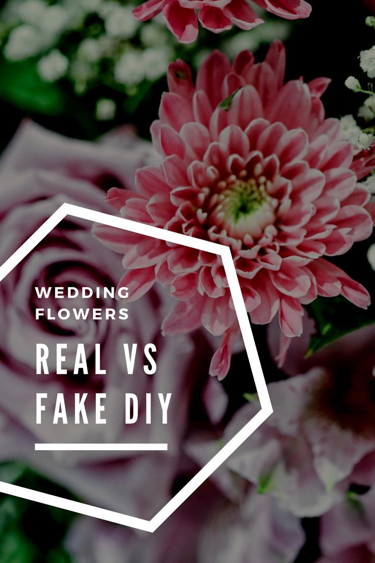 Real Flowers vs Fake Who Takes the Cake? Fake wedding