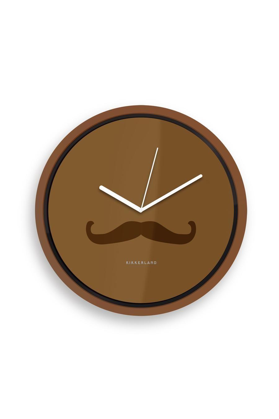 Mustache Wall Clock For The Man Cave Objetos Casa Pinterest