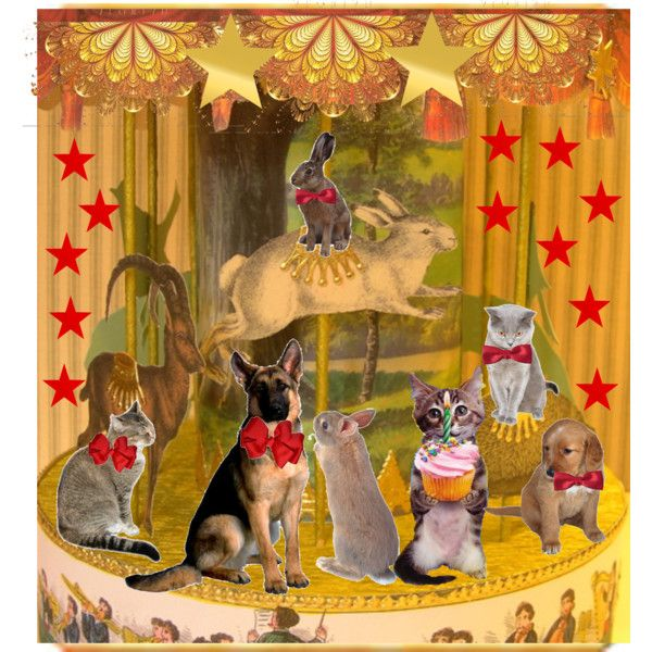 """Vintage Animal Carousel"" by victorianheaven on Polyvore"