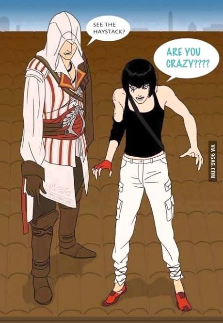 Parkour teaching with Master Ezio! - 9GAG