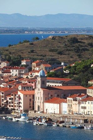 France languedoc roussillon pyrenees orientales 66 vermeille coast port vendres port and - Immobilier port vendres pyrenees orientales ...