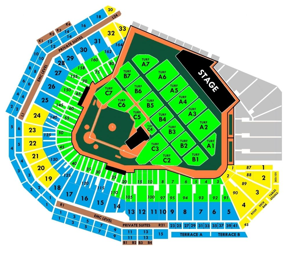 Fenway Concert Seating Chart With Rows Di 2020