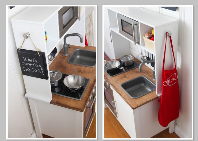 Sandpaper and silly putty it 39 s all in the details hack of ikea 39 s duktig play kitchen for kids - Cuisinette ikea ...