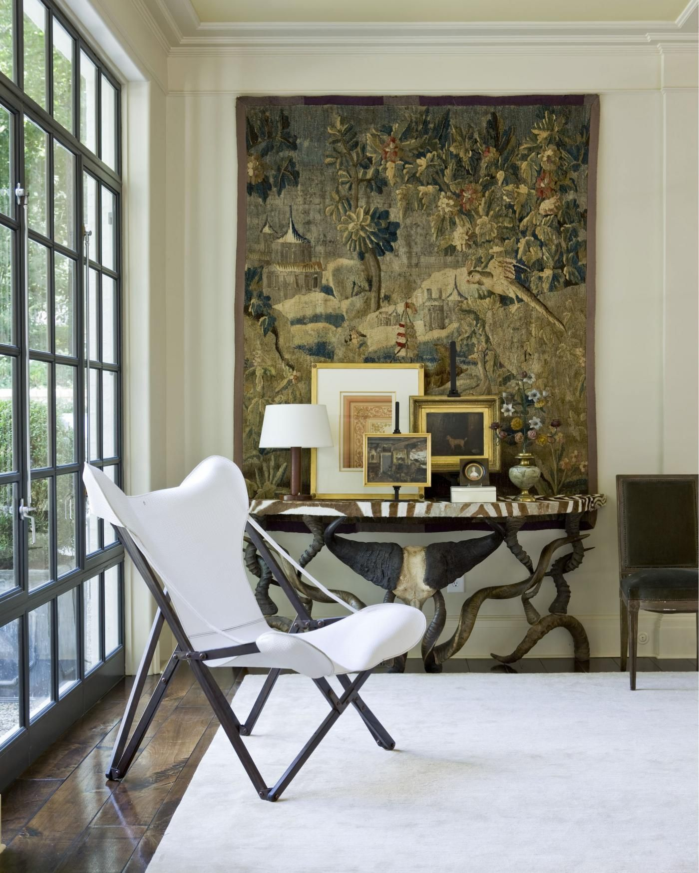 Contemporary Condo Furniture Scottsdale Az Contemporary: Antique Tapestry, Modern, Sleek Room And White And Black