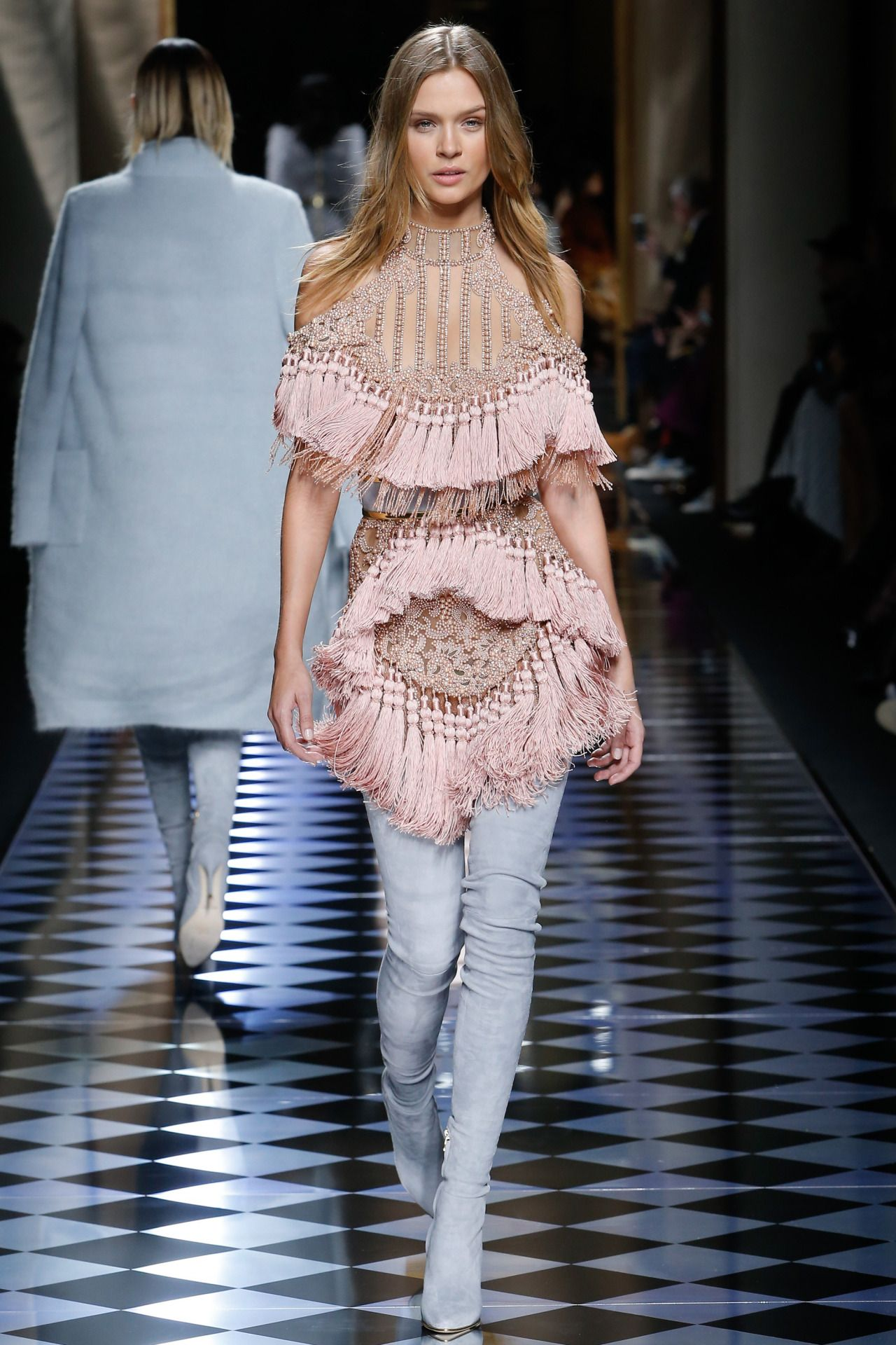 Balmain | Paris Fashion Week | Fall 2016 Model: Josephine Skriver