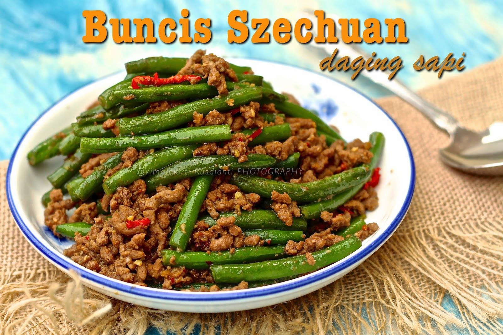 Widya Sri Rusdianti S Kitchen Buncis Szechuan Daging Sapi Daging Sapi Sapi Resep Simpel