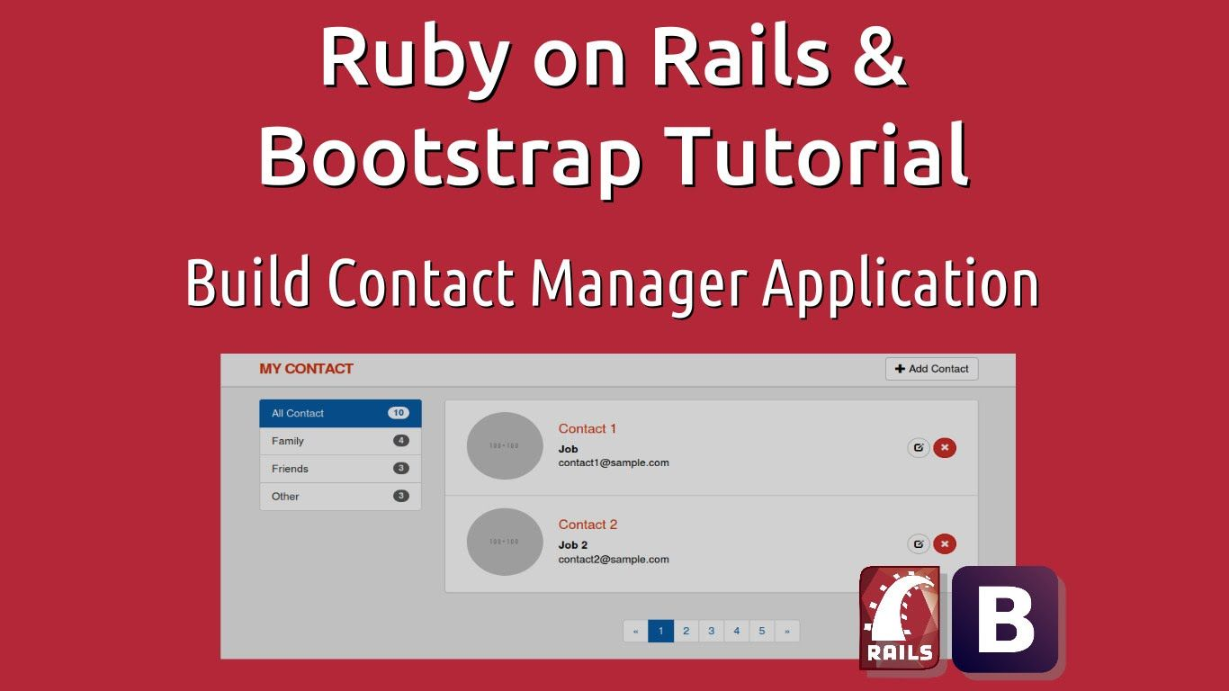 Libro Ruby On Rails Ruby On Rails And Bootstrap Tutorial Build Contact Manager