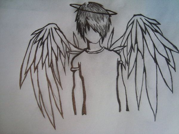 Emo angel art pinterest emo style angel and drawing stuff how to draw fallen angels thecheapjerseys Image collections