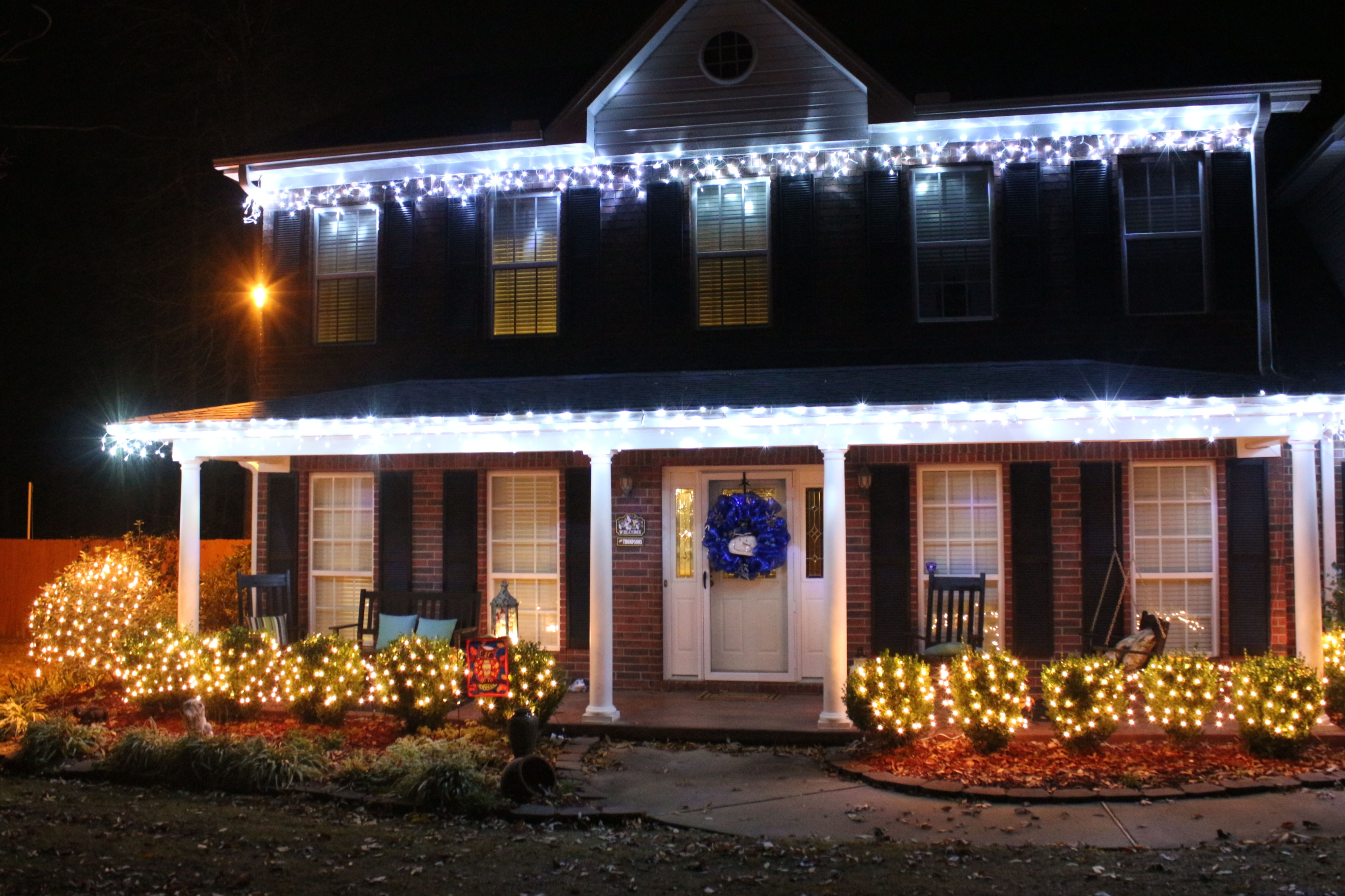 A Beautiful House Using Our White Christmas Hooks To Hang