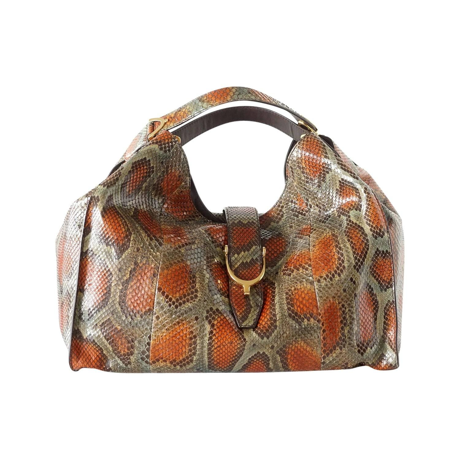 c11dedf6e64 GUCCI bag Stirrup hardware python large tote sold out colour nwt ...