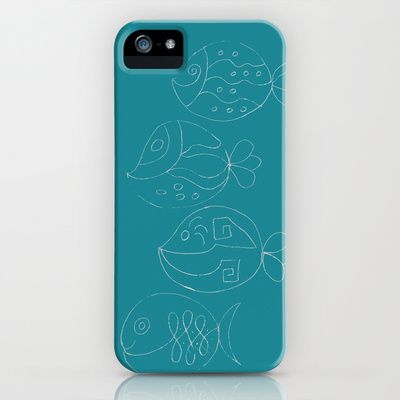 The Chalk Fishes iPhone & iPod Case by Fernando Vieira