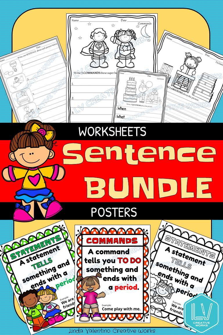 Sentence Writing and Posters Bundle   Sentence writing [ 1152 x 768 Pixel ]