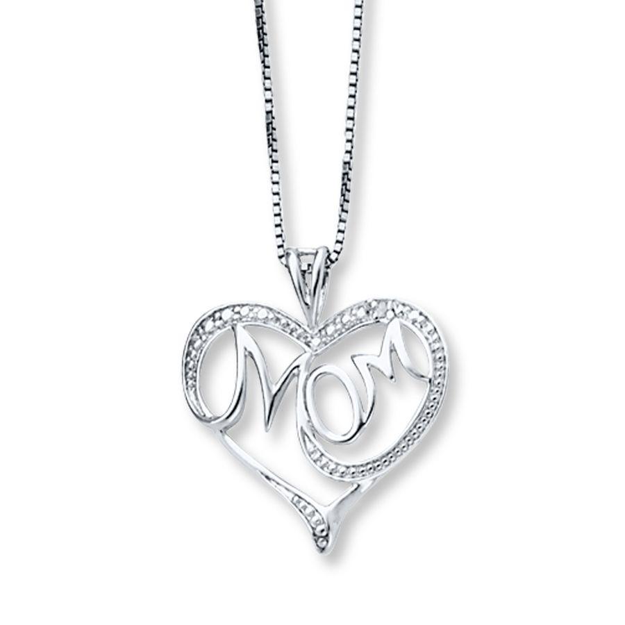 Mom Necklace Silver Mom Necklace Silver Necklace